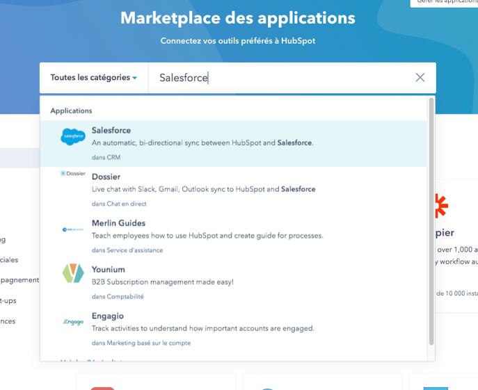 recherche Salesforce