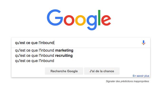 Exemple de requête Google
