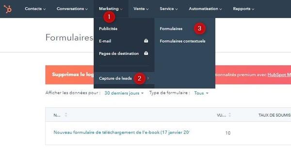 logiciel-marketing-hubspot créer des formulaires