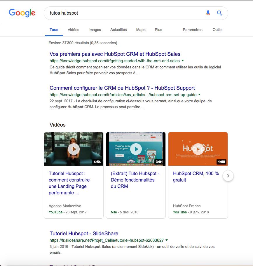 optimiser le SEO d'une vidéo pour apparaitre dans la pgae SERP google